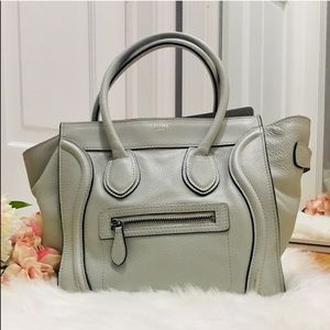 🌹Authentic Celine Taupe Micro Luggage Handbag🌹